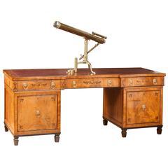 Large 19th Century Regency Pedestal Desk