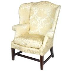 Small Hepplewhite Inlaid Mahogany Wing Chair, Philadelphia, Israel Sack