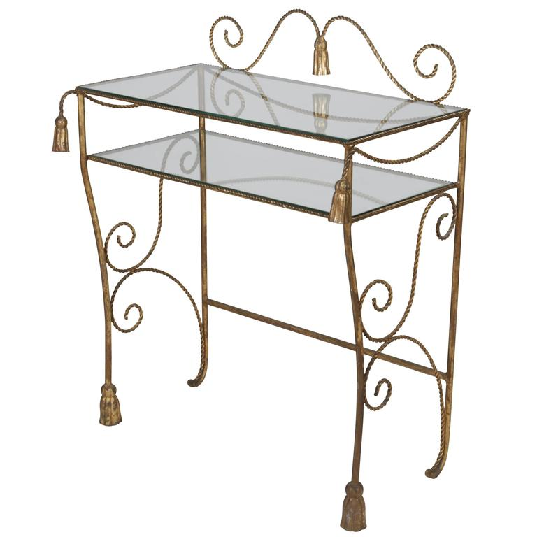 Trompe l 39 oeil dor tassel and rope ladies dressing table for Dressing table 85cm