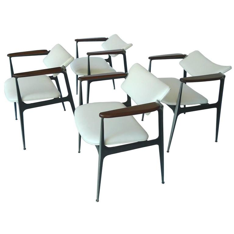 Shelby Williams Gazelle Chairs, Set Of Four For Sale