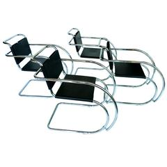 """Set of Four Mies van der Rohe """"MR"""" Chairs"""