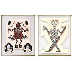 Pair of Framed Ink Drawings by Pedro Friedeberg