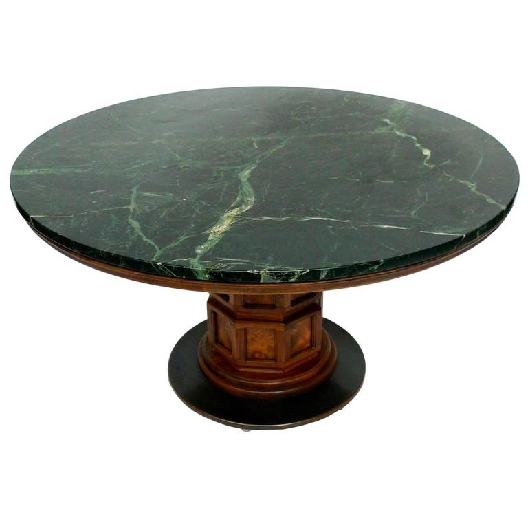 Round Green Marble : Midcentury marble center table by widdicomb at stdibs