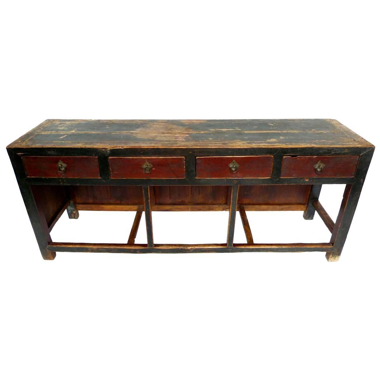 Late 19th century asian console table at 1stdibs for Table th onclick