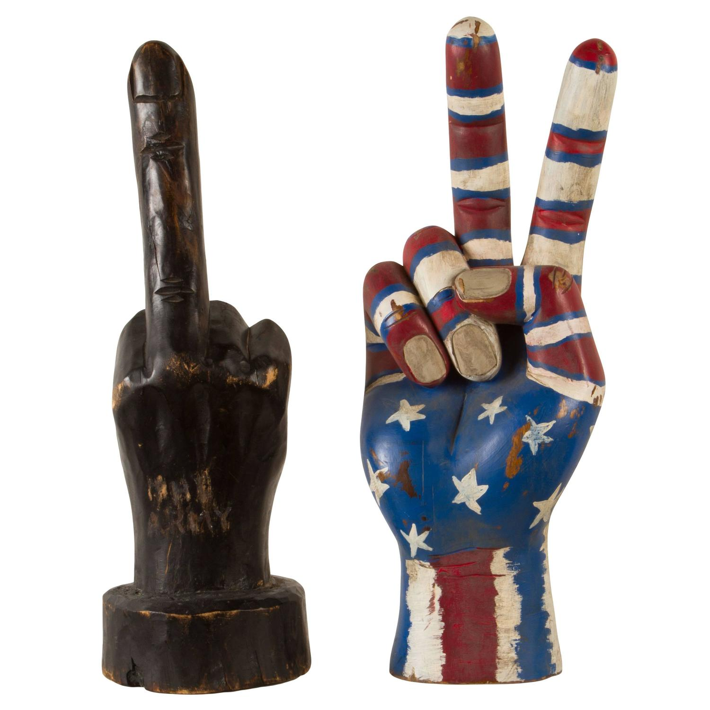 Hand carved folk art sculptures for sale at stdibs