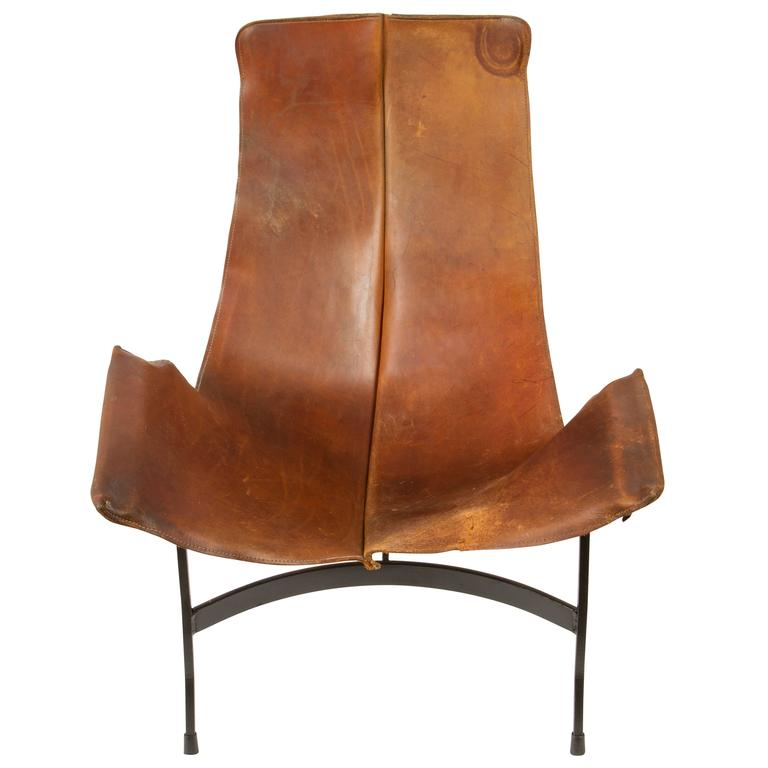 this leather sling chair by william katavolos for leathercrafters is
