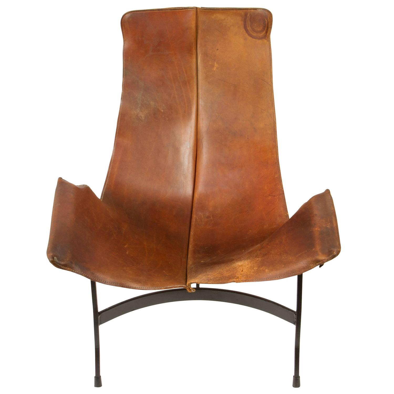 Leather Sling Chair By William Katavolos For