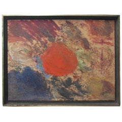 1965 Wigs Frank Abstract Expressionist Painting