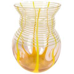 Bohemian Art Deco Period Art Glass Vase by Kralik, Early 20th Century
