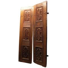 Antique Walnut Entry Door