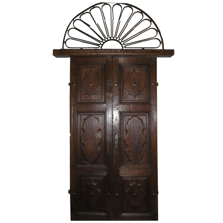 1500 #33261F Antique Walnut Entry Door For Sale At 1stdibs save image Vintage Exterior Doors 41071500