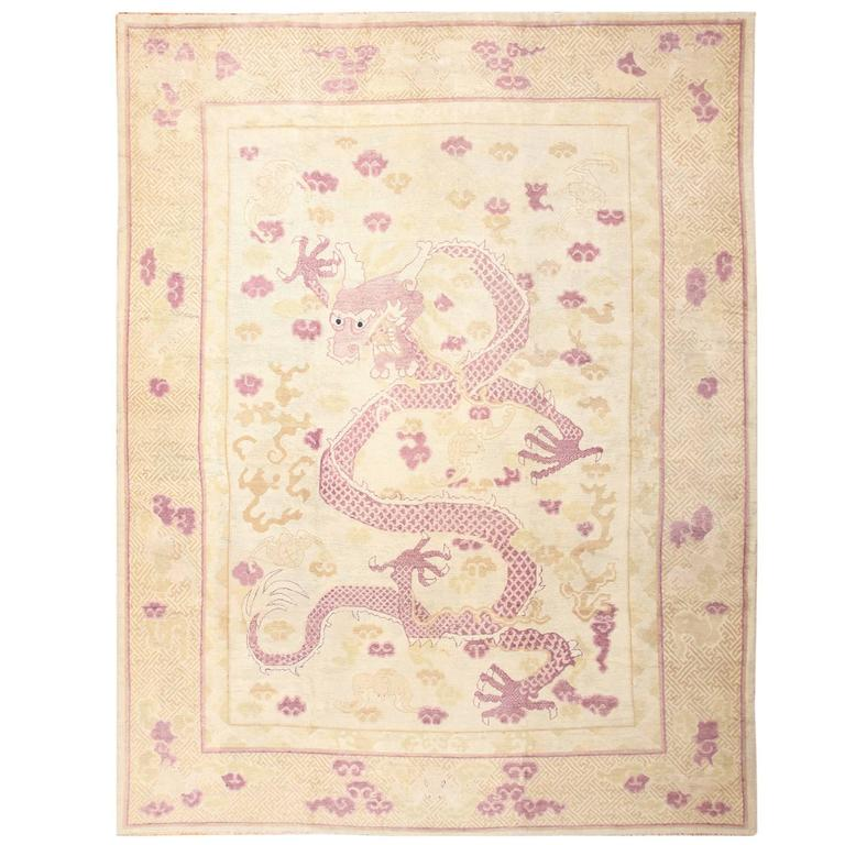 Chinese dragon-design rug, ca. 1900, offered by Nazmiyal