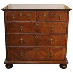 Late 17th-Early 18th Century English William & Mary Walnut Chest of Drawers