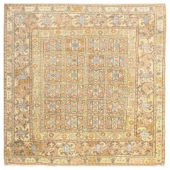 Antique Square Decorative Turkish Oushak Rug. Size: 6 ft 8 in x 6 ft 8 in