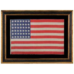 42 Star, American Parade Flag with Canted Stars