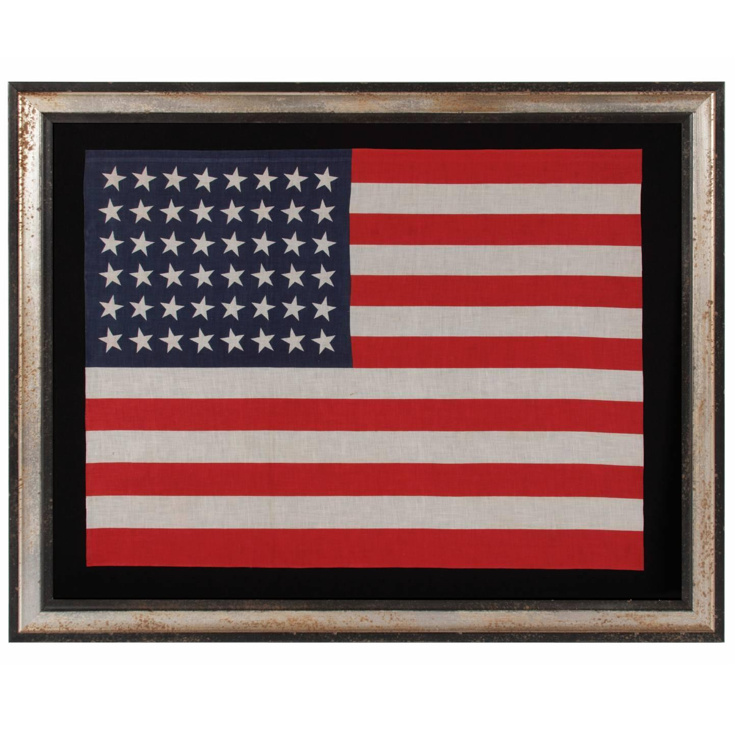 48 Star Large Scale Parade American Flag At 1stdibs