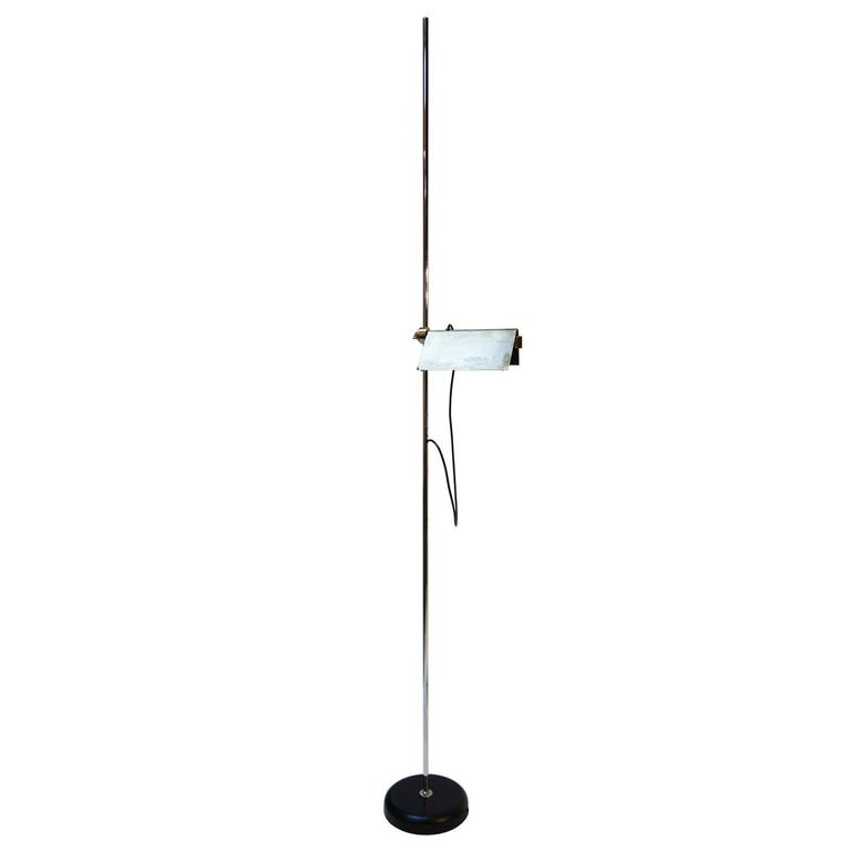 Adjustable halogen floor lamp by arredoluce for sale at for Halogen floor lamp nyc