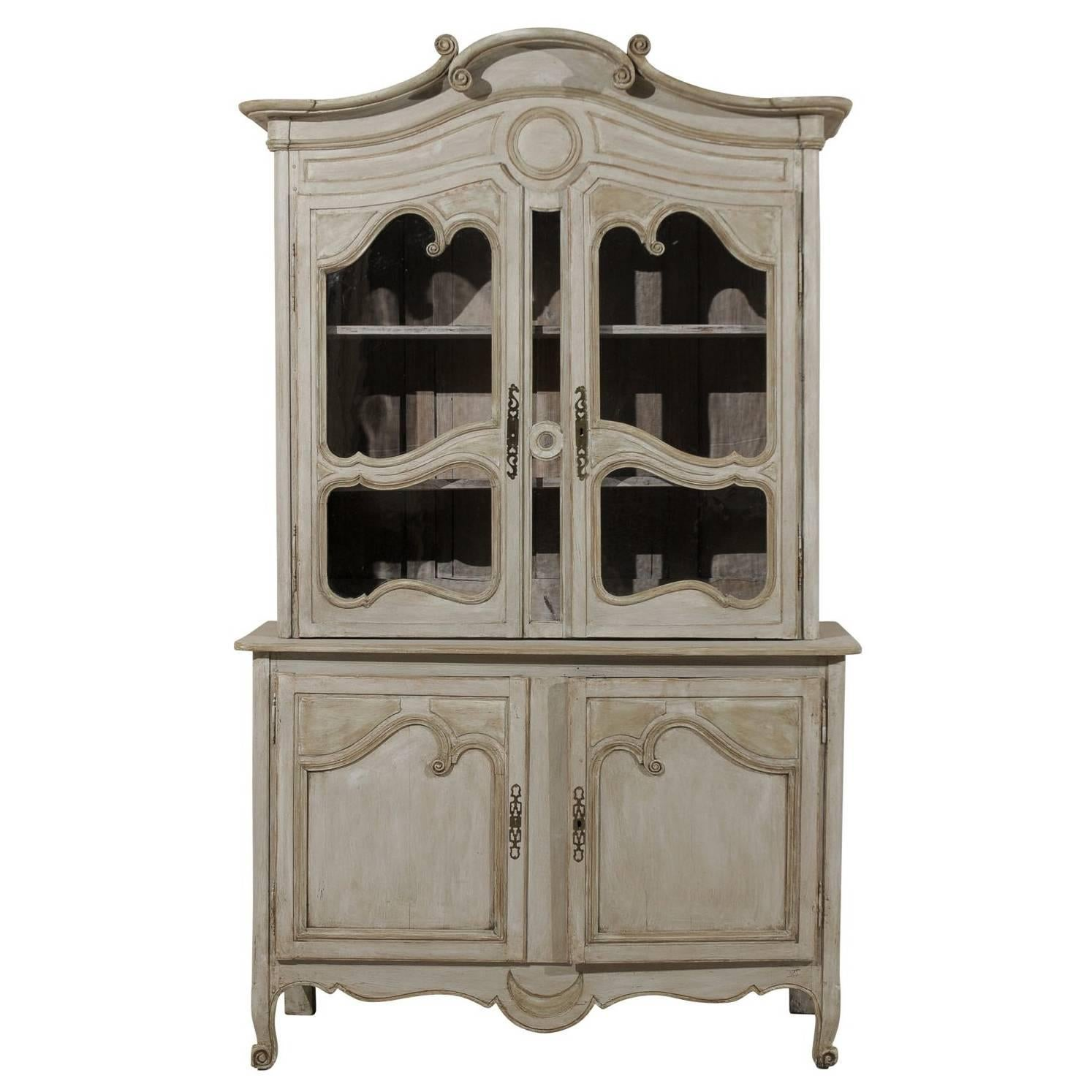 French Early 19th Century Painted Wood Buffet à Deux-Corps