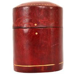 Leather Matches Box, after Hermes Dupré-Lafon