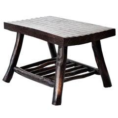 Midcentury Japanese Elmwood Bench