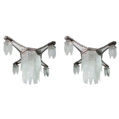 Pair of Large Ceiling Lights, Art Deco Period