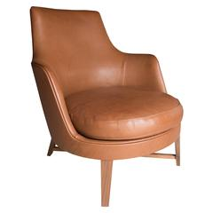 Flexform Guscio Leather Armchair