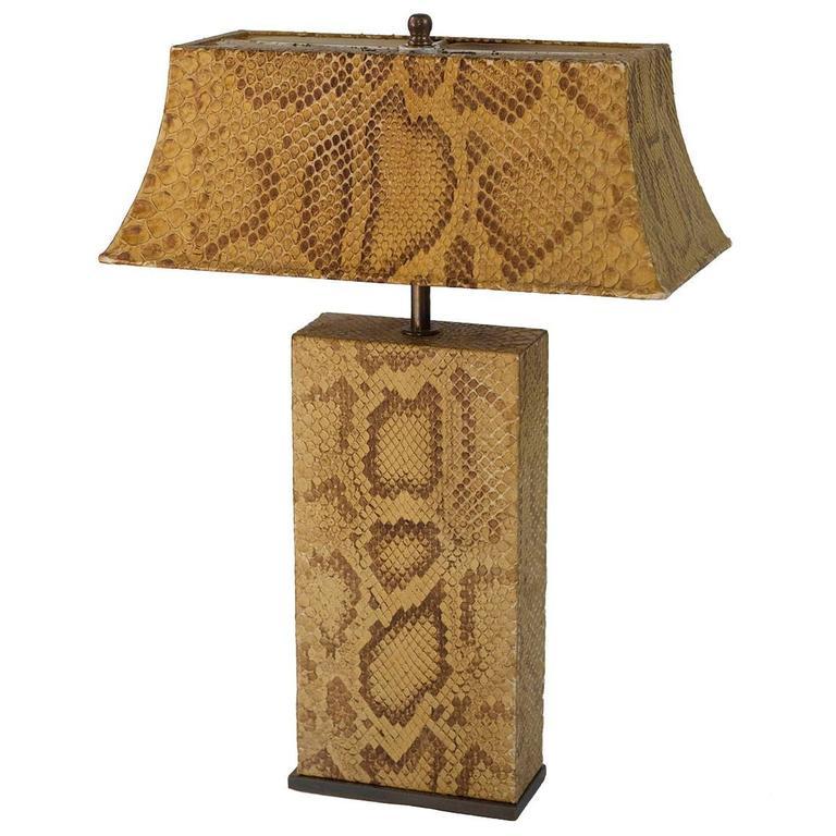 Glamorous Karl Springer Python Lamp