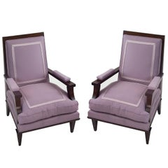 Pair of André Arbus Armchairs