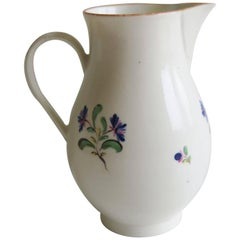 Late 18th Century Porcelain Caughley Sparrow-Beak Milk Jug English, Circa 1780