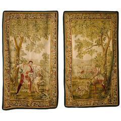 Beautiful Pair of 19th Century French Aubusson Tapestries