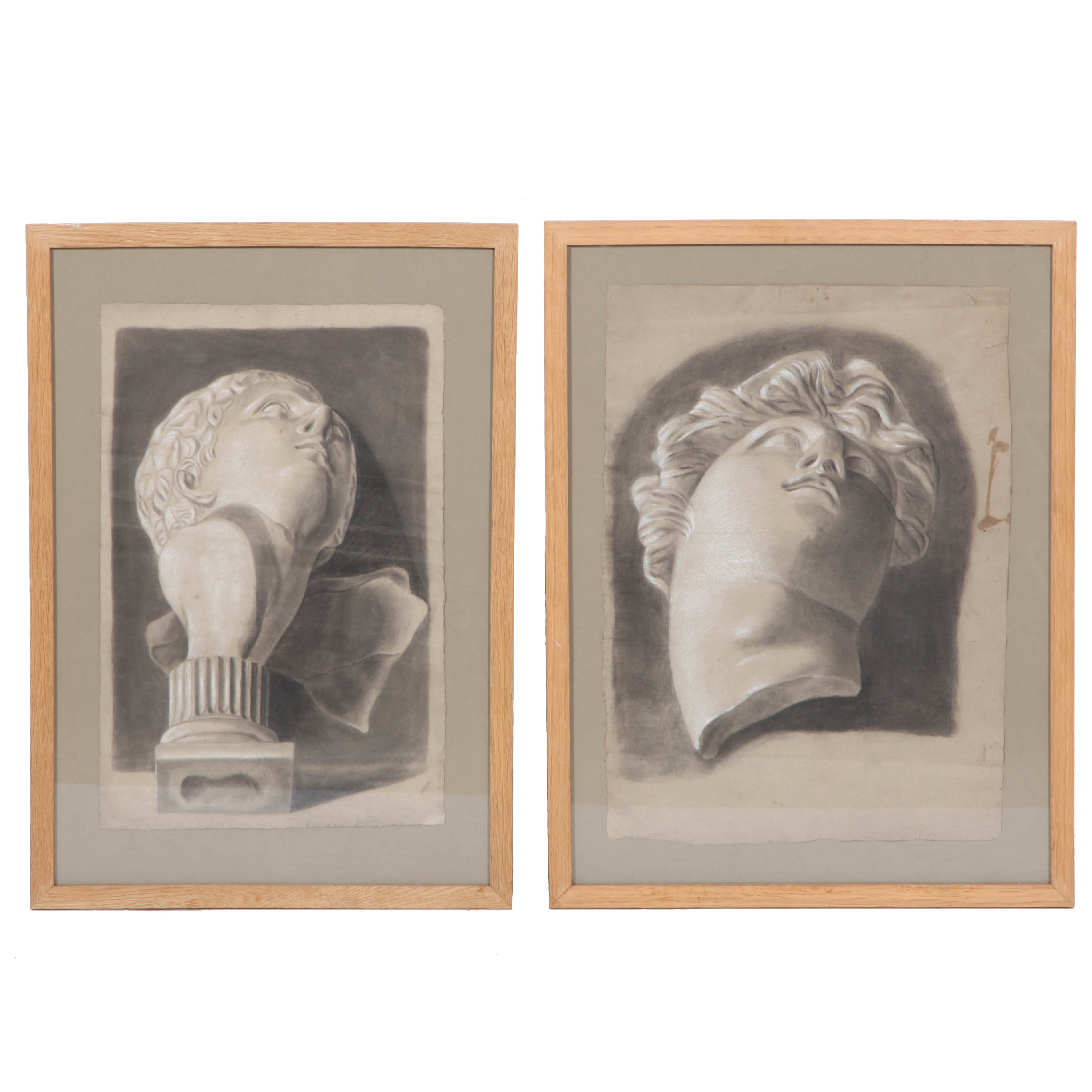 Framed Charcoal Drawings
