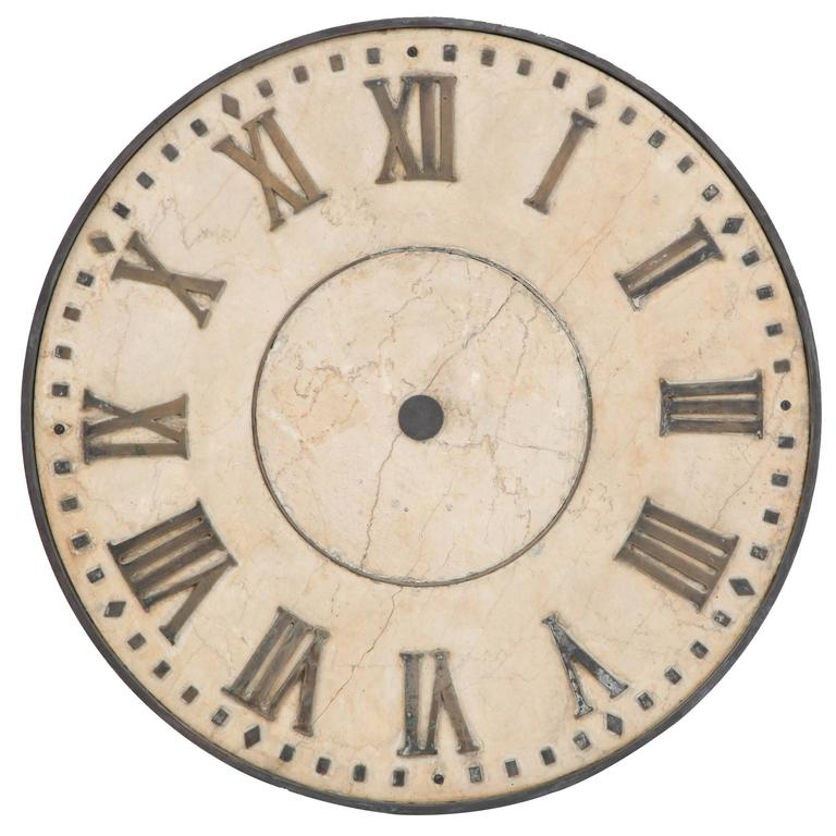 Marble Clock Face For Sale At 1stdibs
