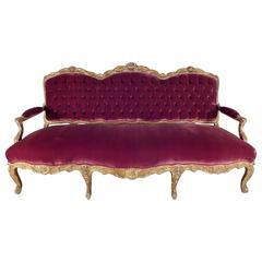 French 19th Century Louis XV Gild Sofa