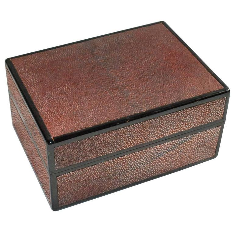 Shagreen Jewelry Box