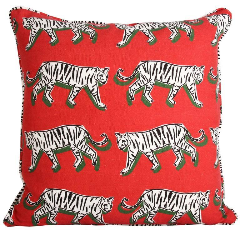 White Tiger Pillow At 1stdibs