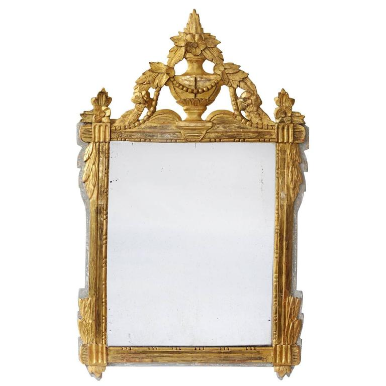 French Late 18th Century Provencal Painted and Giltwood Mirror, circa 1780