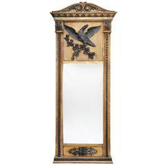 19th Century Second Empire French Giltwood Pier Glass Mirror, circa 1860