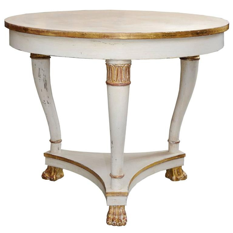 Swedish 19th century second empire painted centre table for Table th center