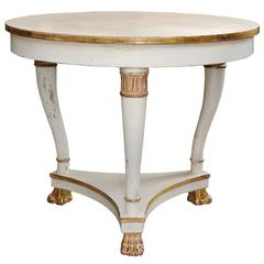 Swedish 19th Century Second Empire Painted Centre Table, circa 1880