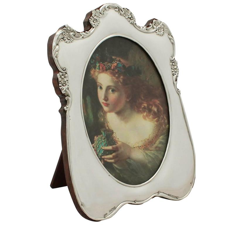 Sterling Silver Photograph Frame Antique Edwardian For Sale At 1stdibs