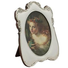 Sterling Silver Photograph Frame, Antique Edwardian