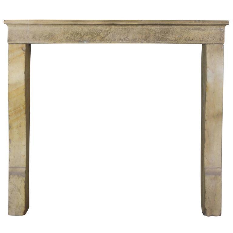 19th Century Hard Stone Louis Philippe Antique Fireplace Mantel