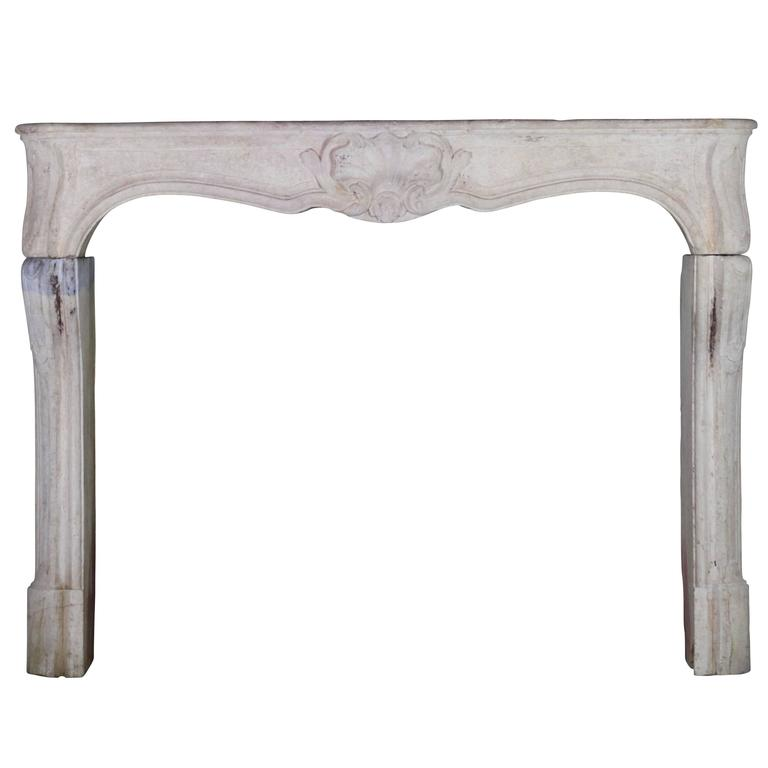 18th Century LXV antique fireplace Mantel in Bicolor Limestone