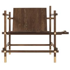 """""""Useful Chair"""" in Oak and Brass by Sanghyeok Lee"""