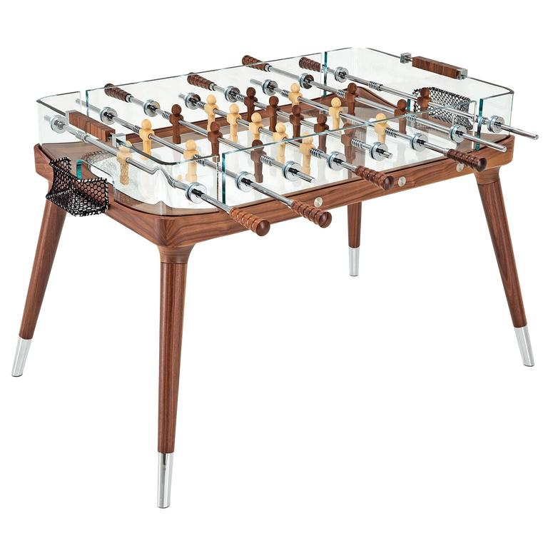 90° Minuto Foosball Table by Teckell in Walnut For Sale