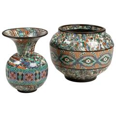 Two Mosaic Vases by Gerbino