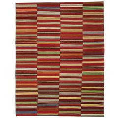 Red Striped Kilim Rugs