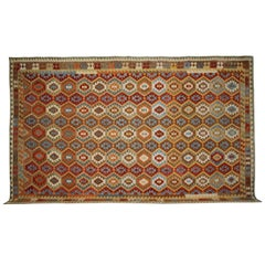 Flat Weave Afghan Handmade Kilim Rugs, Traditional Carpet Rugs from Afghanistan