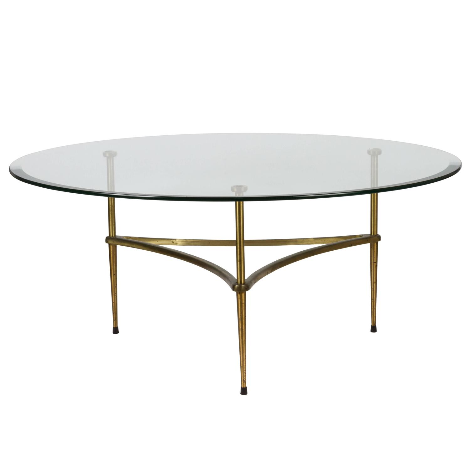 Italian Brass And Glass Coffee Table At 1stdibs