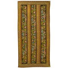 Antique French Textile Needlepoint Panel